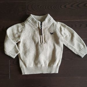 12 month Carter's zip-up sweater